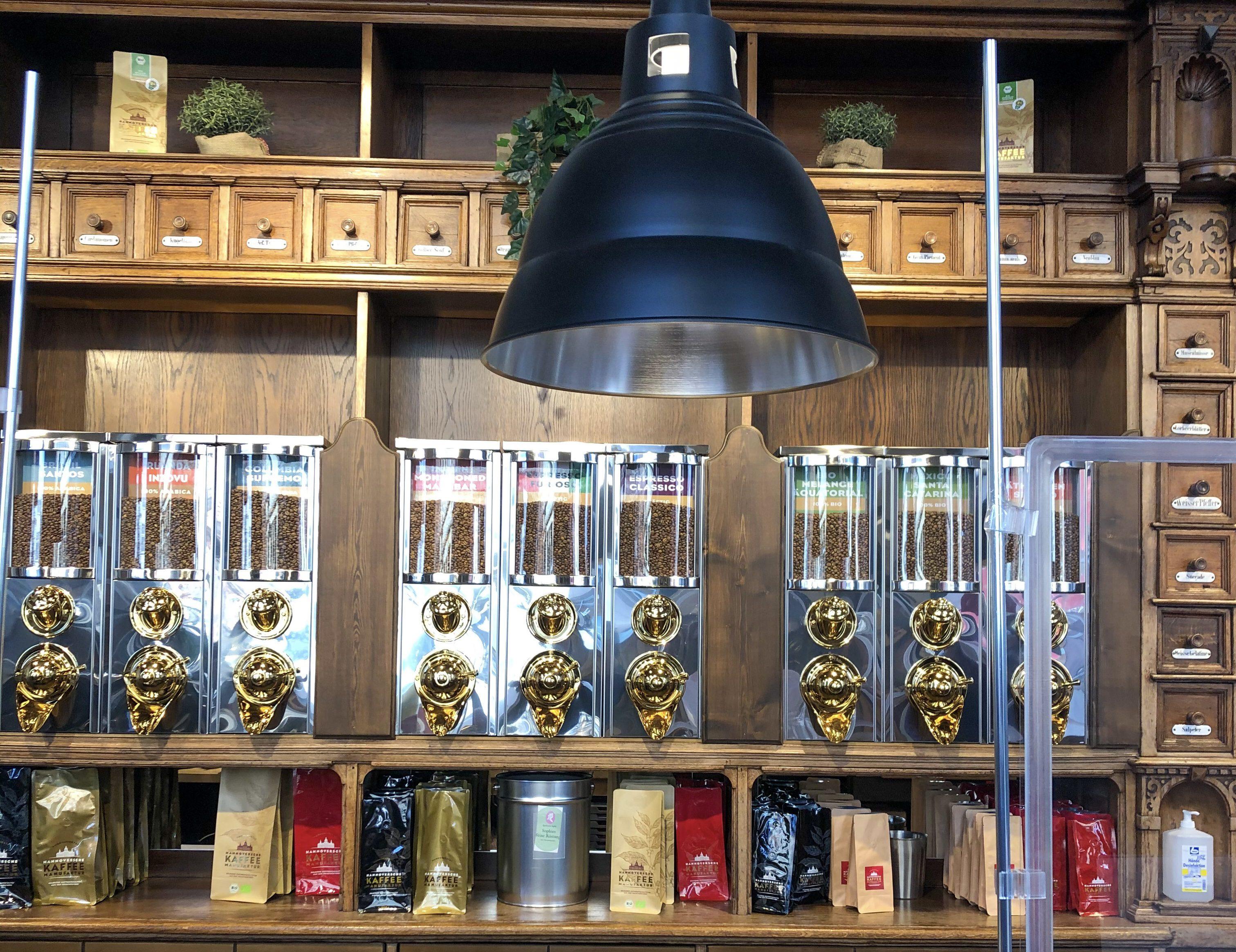 Lichtinstallation in der Hannoverschen Kaffeemanufaktur